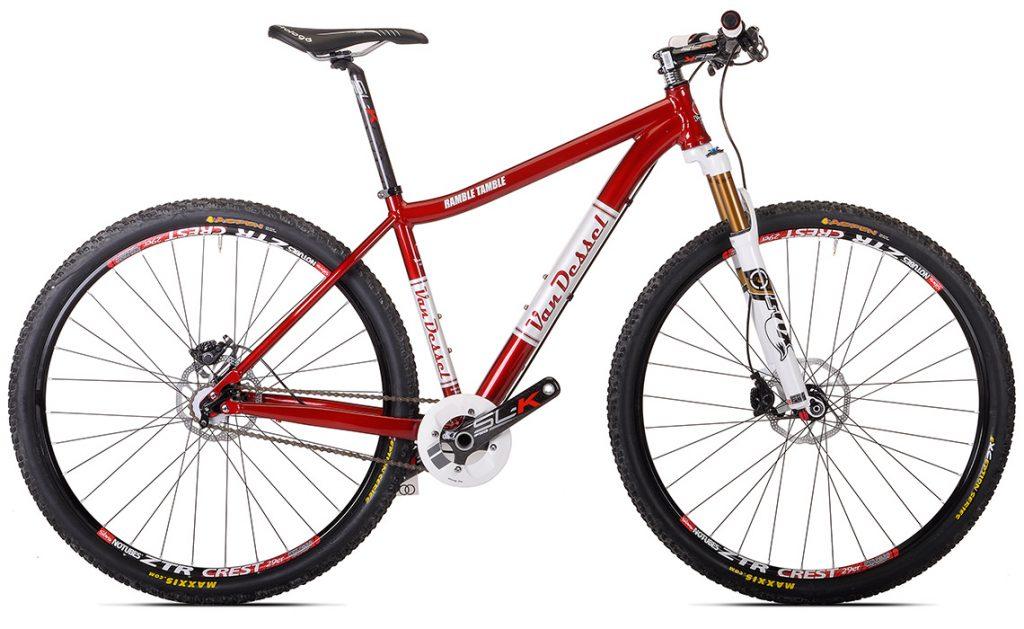 Van Dessel's Ramble Tamble easily does double duty as a gravel bike