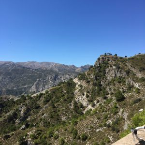 View from a road ride down to the Mediterranean Sea