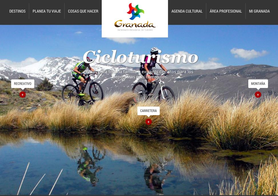 Granada tourism cycling website