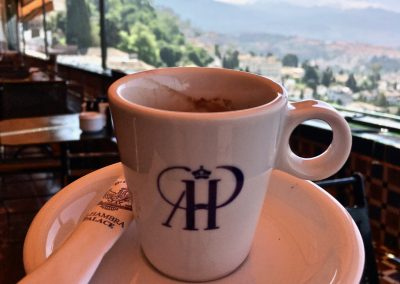 Coffee with a view at the Alhambra Palace Hotel